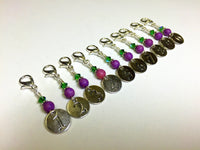 Numbered Clip On Stitch Marker Set , Stitch Markers - Jill's Beaded Knit Bits, Jill's Beaded Knit Bits  - 7