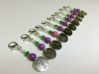 Numbered Clip On Stitch Marker Set , Stitch Markers - Jill's Beaded Knit Bits, Jill's Beaded Knit Bits  - 6