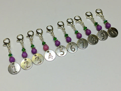Numbered Clip On Stitch Marker Set , Stitch Markers - Jill's Beaded Knit Bits, Jill's Beaded Knit Bits  - 1