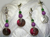Numbered Clip On Stitch Marker Set , Stitch Markers - Jill's Beaded Knit Bits, Jill's Beaded Knit Bits  - 5