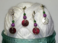Numbered Clip On Stitch Marker Set , Stitch Markers - Jill's Beaded Knit Bits, Jill's Beaded Knit Bits  - 4