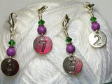 Numbered Clip On Stitch Marker Set , Stitch Markers - Jill's Beaded Knit Bits, Jill's Beaded Knit Bits  - 2