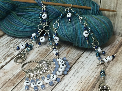 Chain Style Row Counter for Counting Up To 100 Rows , Stitch Markers - Jill's Beaded Knit Bits, Jill's Beaded Knit Bits  - 1