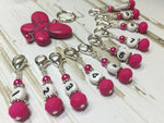 Numbered Stitch Marker Set with Pink Butterfly Holder , Stitch Markers - Jill's Beaded Knit Bits, Jill's Beaded Knit Bits  - 3