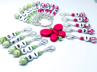 1-20 Numbered Progress Keeper Set with Pink Butterfly Holder
