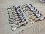 Removable Row Counter Set 1-20 (Purple) , Stitch Markers - Jill's Beaded Knit Bits, Jill's Beaded Knit Bits  - 4