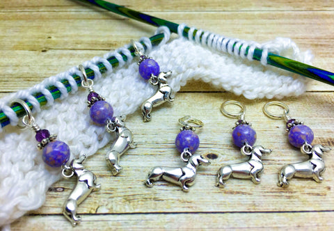 Dachshund Stitch Markers- 6 Piece Set