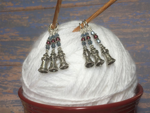 Lighthouse Stitch Markers- Snag Free 6 Piece Set , Stitch Markers - Jill's Beaded Knit Bits, Jill's Beaded Knit Bits  - 4