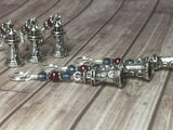 Lighthouse Stitch Markers- Snag Free 6 Piece Set , Stitch Markers - Jill's Beaded Knit Bits, Jill's Beaded Knit Bits  - 7
