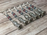 Lighthouse Stitch Markers- Snag Free 6 Piece Set , Stitch Markers - Jill's Beaded Knit Bits, Jill's Beaded Knit Bits  - 2