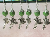 6 Frog Stitch Markers- Snag Free Knitting Tools , Stitch Markers - Jill's Beaded Knit Bits, Jill's Beaded Knit Bits  - 1