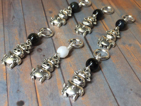 6 Snag Free Cow Stitch Markers , Stitch Markers - Jill's Beaded Knit Bits, Jill's Beaded Knit Bits  - 4