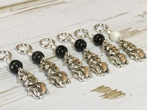 6 Snag Free Cow Stitch Markers , Stitch Markers - Jill's Beaded Knit Bits, Jill's Beaded Knit Bits  - 9