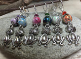 Pot Belly Cat Stitch Markers , Stitch Markers - Jill's Beaded Knit Bits, Jill's Beaded Knit Bits  - 3