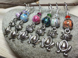 Pot Belly Cat Stitch Markers , Stitch Markers - Jill's Beaded Knit Bits, Jill's Beaded Knit Bits  - 4