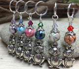 Pot Belly Cat Stitch Markers , Stitch Markers - Jill's Beaded Knit Bits, Jill's Beaded Knit Bits  - 5