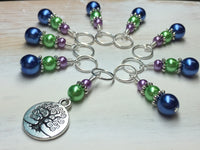 Tree of Life Stitch Marker Set for Knitting or Crochet , Stitch Markers - Jill's Beaded Knit Bits, Jill's Beaded Knit Bits  - 4
