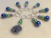 Tree of Life Stitch Marker Set for Knitting or Crochet , Stitch Markers - Jill's Beaded Knit Bits, Jill's Beaded Knit Bits  - 2