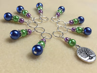 Tree of Life Stitch Marker Set for Knitting or Crochet , Stitch Markers - Jill's Beaded Knit Bits, Jill's Beaded Knit Bits  - 3