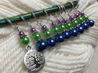 Tree of Life Stitch Marker Set for Knitting or Crochet , Stitch Markers - Jill's Beaded Knit Bits, Jill's Beaded Knit Bits  - 1