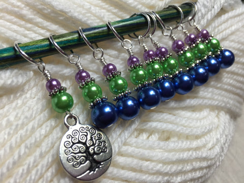Tree of Life Stitch Marker Set- Snag Free