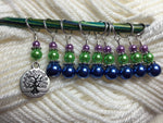 Tree of Life Stitch Marker Set for Knitting or Crochet , Stitch Markers - Jill's Beaded Knit Bits, Jill's Beaded Knit Bits  - 5