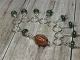 Football Stitch Marker Jewelry Set , Stitch Markers - Jill's Beaded Knit Bits, Jill's Beaded Knit Bits  - 2