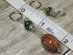 Football Stitch Marker Jewelry Set , Stitch Markers - Jill's Beaded Knit Bits, Jill's Beaded Knit Bits  - 5