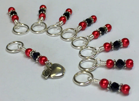 Red Apple Stitch Marker Set , Stitch Markers - Jill's Beaded Knit Bits, Jill's Beaded Knit Bits  - 7