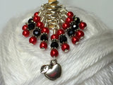Red Apple Stitch Marker Set , Stitch Markers - Jill's Beaded Knit Bits, Jill's Beaded Knit Bits  - 5
