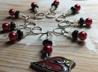 Arizona Cardinals Stitch Marker Set , Stitch Markers - Jill's Beaded Knit Bits, Jill's Beaded Knit Bits  - 8