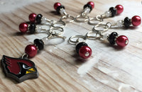 Arizona Cardinals Stitch Marker Set , Stitch Markers - Jill's Beaded Knit Bits, Jill's Beaded Knit Bits  - 9