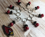 Arizona Cardinals Stitch Marker Set , Stitch Markers - Jill's Beaded Knit Bits, Jill's Beaded Knit Bits  - 5