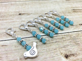 Little Silver Bird Removable Stitch Marker Set- Knit and Crochet Markers