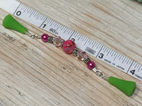 Pink Beaded Point Protector- Stitch Holder , stitch holder - Jill's Beaded Knit Bits, Jill's Beaded Knit Bits  - 5