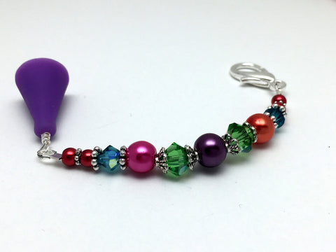 Rainbow Beaded Scissor Fob Charm Jewelry