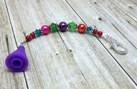 Rainbow Beaded Scissor Fob Charm Jewelry , accessories - Jill's Beaded Knit Bits, Jill's Beaded Knit Bits  - 11