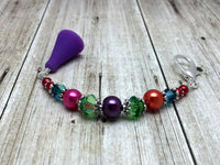 Rainbow Beaded Scissor Fob Charm Jewelry , accessories - Jill's Beaded Knit Bits, Jill's Beaded Knit Bits  - 4