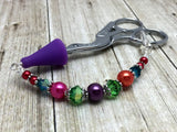 Rainbow Beaded Scissor Fob Charm Jewelry , accessories - Jill's Beaded Knit Bits, Jill's Beaded Knit Bits  - 7