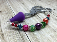 Rainbow Beaded Scissor Fob Charm Jewelry , accessories - Jill's Beaded Knit Bits, Jill's Beaded Knit Bits  - 6