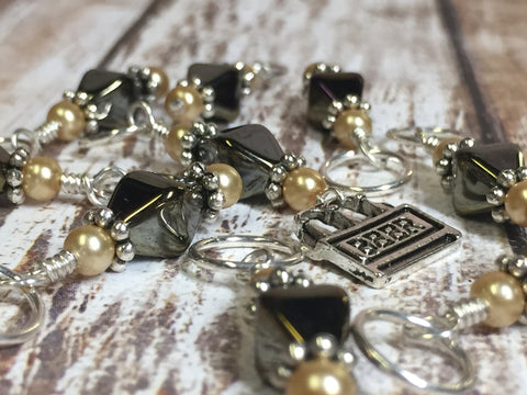 Beer Stitch Marker Set , Stitch Markers - Jill's Beaded Knit Bits, Jill's Beaded Knit Bits  - 2