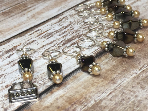 Beer Stitch Marker Set , Stitch Markers - Jill's Beaded Knit Bits, Jill's Beaded Knit Bits  - 5