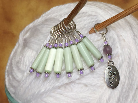 Best Friend Stitch Marker Set , Stitch Markers - Jill's Beaded Knit Bits, Jill's Beaded Knit Bits  - 1