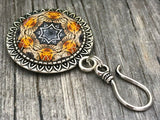 MAGNETIC Amber Fractal Portuguese Knitting Pin- Gift for Knitters