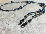 Blue Eyeglass Necklace-Beaded Lanyard , Jewelry - Jill's Beaded Knit Bits, Jill's Beaded Knit Bits  - 8