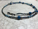 Blue Eyeglass Necklace-Beaded Lanyard , Jewelry - Jill's Beaded Knit Bits, Jill's Beaded Knit Bits  - 7