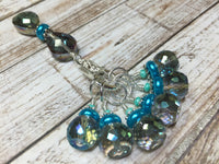 Crystal Knitting Stitch Markers with Holder , Stitch Markers - Jill's Beaded Knit Bits, Jill's Beaded Knit Bits  - 2