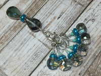 Crystal Knitting Stitch Markers with Holder , Stitch Markers - Jill's Beaded Knit Bits, Jill's Beaded Knit Bits  - 5