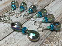 Crystal Knitting Stitch Markers with Holder , Stitch Markers - Jill's Beaded Knit Bits, Jill's Beaded Knit Bits  - 3