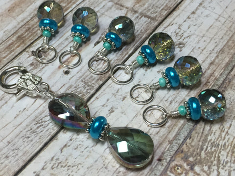 Crystal Knitting Stitch Markers with Holder , Stitch Markers - Jill's Beaded Knit Bits, Jill's Beaded Knit Bits  - 8